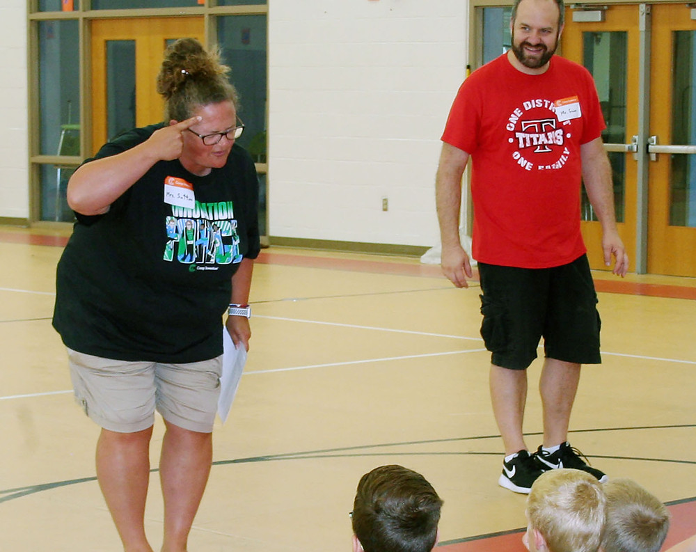 Aimee Sutton and Mike Goin are just a few of the teachers at this year's Camp Invention