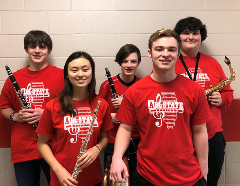 GHS All-State Band and Jazz Band students