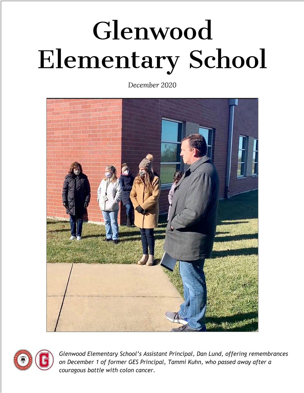 GES December News cover and google doc link