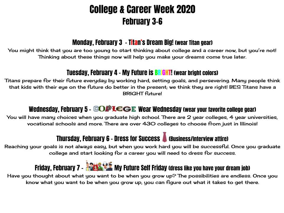 College & Career Readiness Week at BES