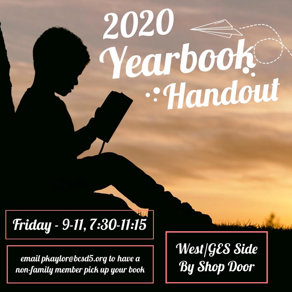 Yearbook handout informational graphic