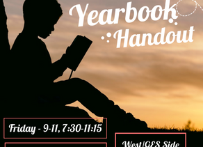2020 Yearbook Handout Friday, Sept. 11, 7:30 to 11:15 a.m.