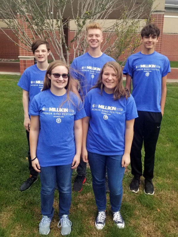 GHS Band students chosen to perform at Millikin