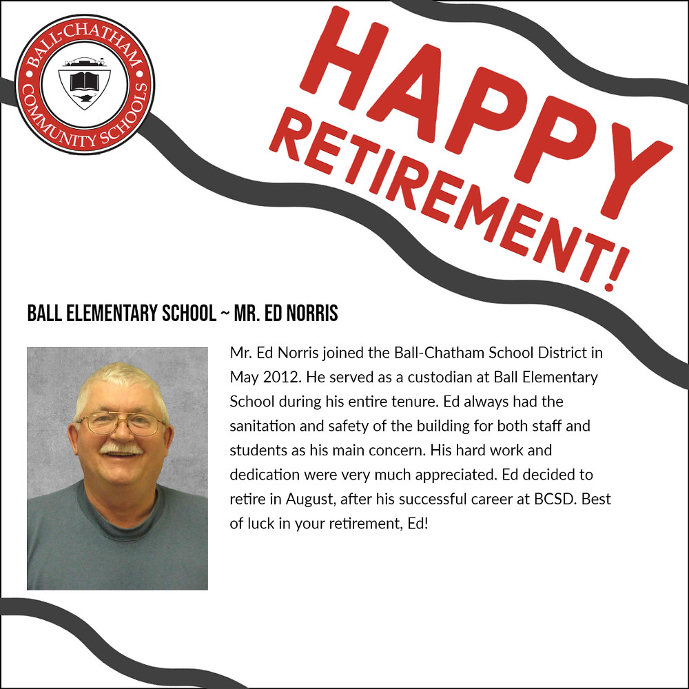 Ed Norris retirement graphic