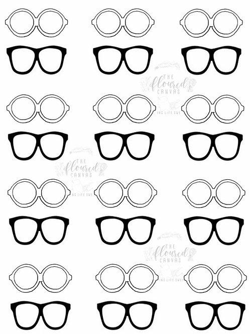 Eyeglasses Cookie Template