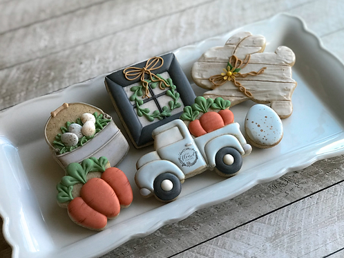 Farmhouse Easter Intermediate Online Cookie Decorating Class #10