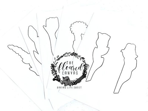 Rose Flower Handcut Template