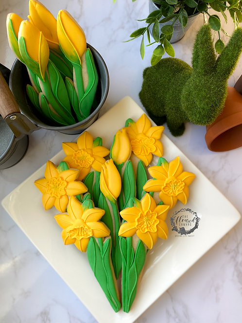 Daffodil Cookie Decorating Online Class #16