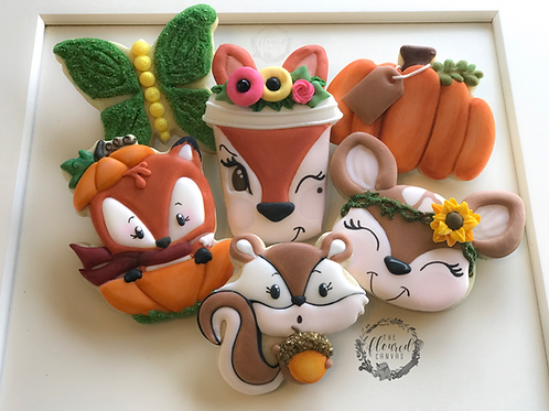 Woodland Fall Cookie Decorating Online Class #4