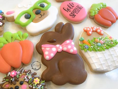Hello Spring Beginner's Online Cookie Decorating Class #9