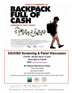 Backpack Full of Cash Screening March 12, 2018