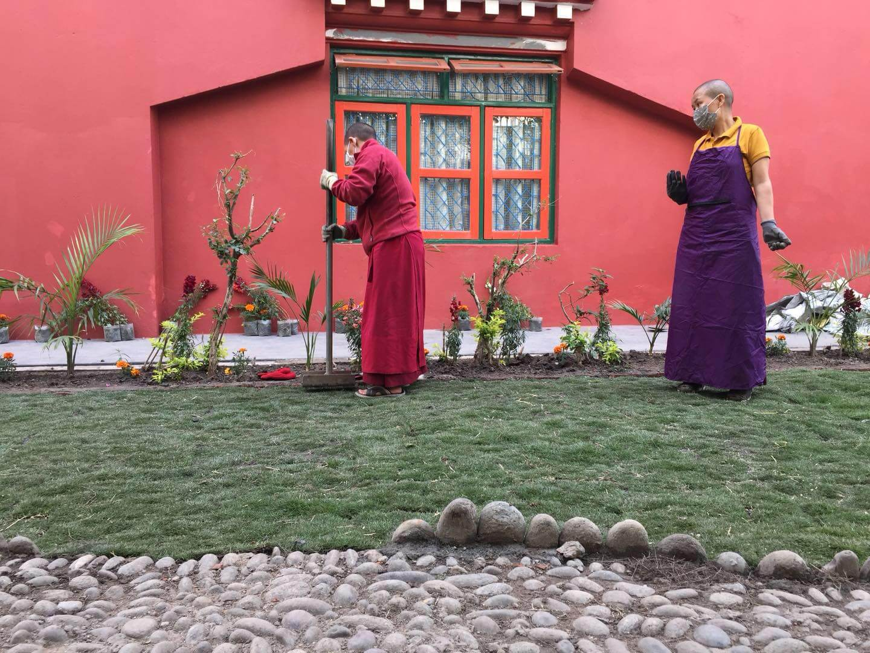 preparing the gardens
