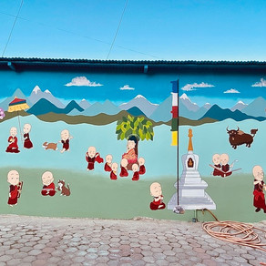New Mural at Tara Abbey
