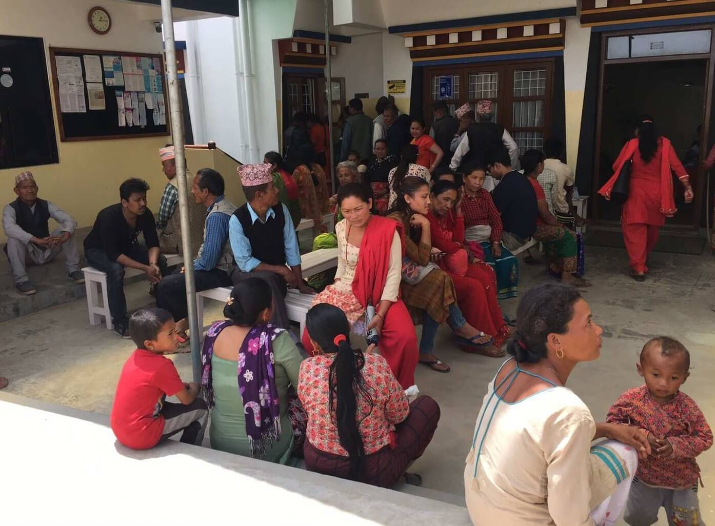 Patients waiting - Phende Clinic