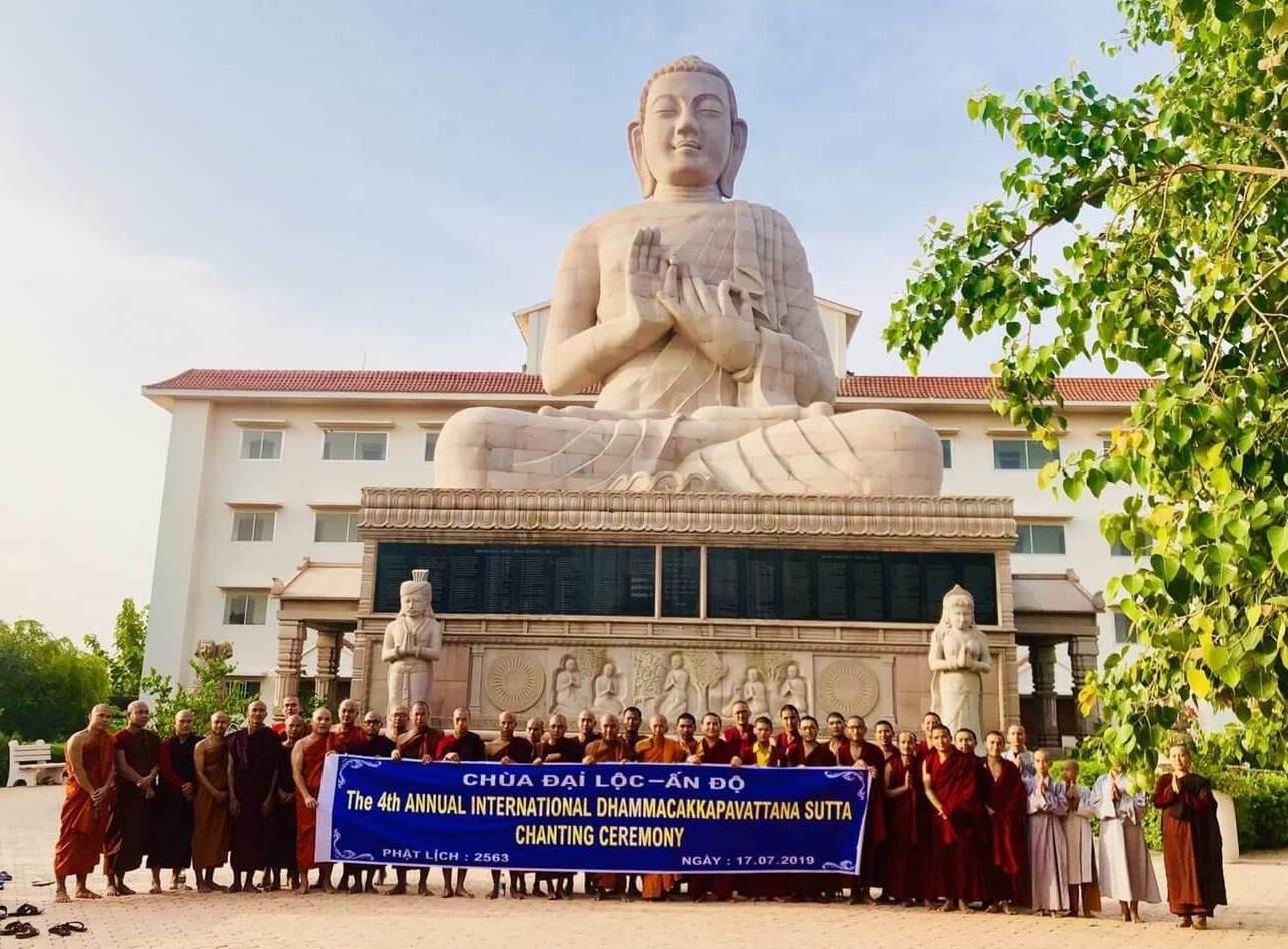 Chanting at Vietnamese monastery
