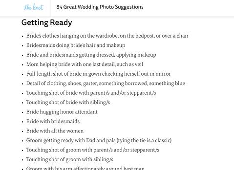 Wedding Wednesday | The Shot List Dilema | Wedding Photography ...