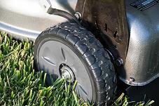 """large 8"""" wheels, Honda mower, residential mower, walk behind mower"""