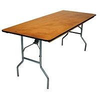 Rectangular Wood Table, Folding Table