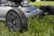 """large 8"""" wheels, Honda mower, walk behind mower, residential mower, Honda Warranty"""