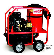 fue oil heated, gas powered, hot water, portable, pressure washer