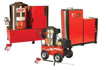 natural gas heated, electric powered, hot water, pressure washer, power washer
