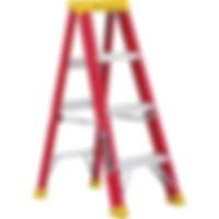 Step Ladder, 4' Ladder, 3 Step, 300lb, Louisville Ladder