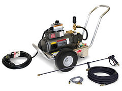 electric powered, cold water, cart or skid, pressure washer