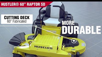 Raptor SD, Hustler Raptor SD, Hustler, Z-Turn, Zero Turn, Zero-Turn, mower