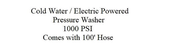 Hotsy Pressure Washer