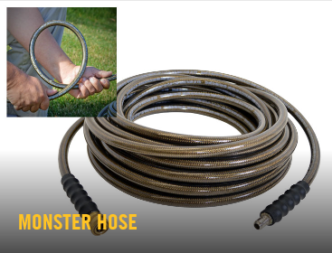 monster hose, Hustler, Pressure Washer, Hustler pressure washer