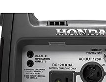 easy to see control panel, Honda Generators, Honda Warranty, generators