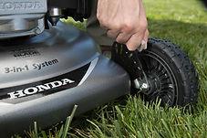6 position height adjustment, Honda mower, walk behind mower, residential mower, Honda Warranty