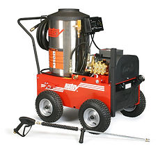 700 series, natural gas heated, electric powered, hot water, portable, pressure washer, power washer