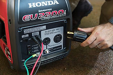 built in 30A outlet for RV use, Honda Generators, Honda Warranty, generators