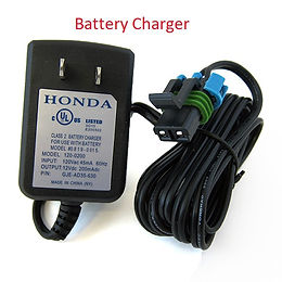 battery charger, Honda accessories, Honda mower, walk behind mower, residential mower, Honda warranty