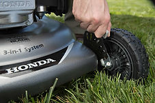 6 cutting heights, Honda mower, walk behind mower, residential mower, Honda Warranty
