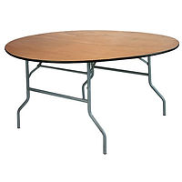 Round Wood Table, Folding Wood Table