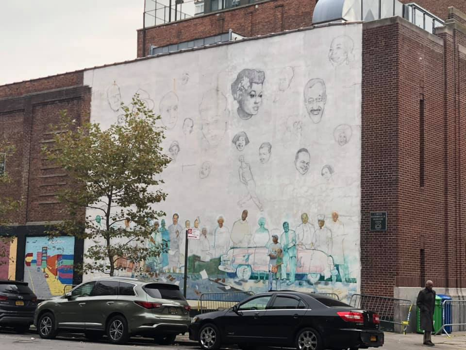 Arts on the wall in Harlem