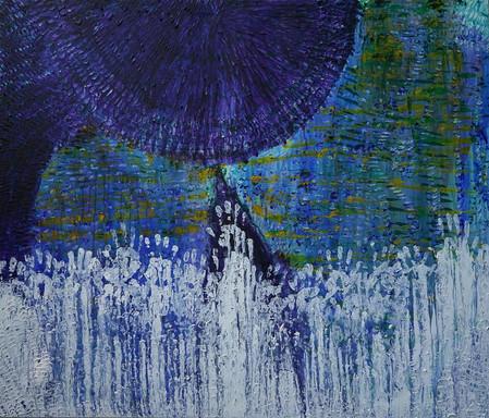 11. VIDOR Purchase     Joshua Bonson Ocean Shades JB1044, 170 cm high x 200 cm wide, synth