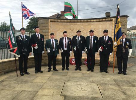 Buglers, Regimental Standards and Bikers in Castleford Remember Rfn James Backhouse - Late 2 Rifles
