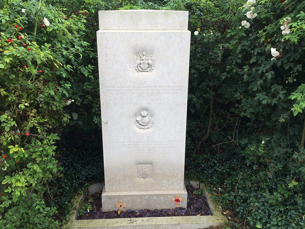 Leeds Memorial to KOYLI at Tyne Cot Ypres