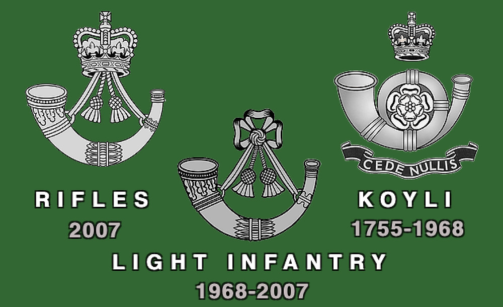 Rifles Light Infantry and KOYLI Association Header