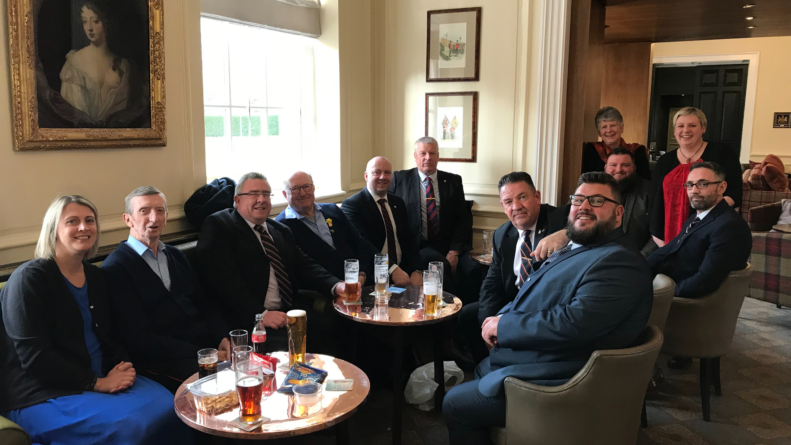 Gathered in the Pensioners Club
