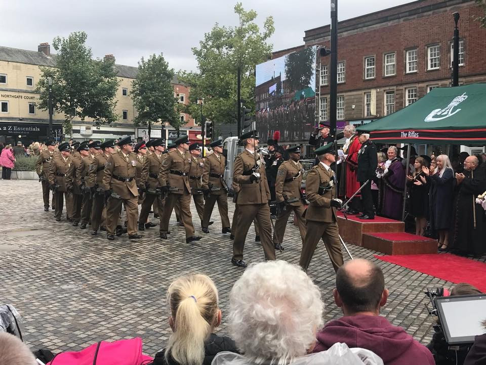 Y Coy 8 Rifles Freedom of Wakefield 15 September 2018