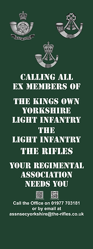 Rifles LI and KOYLI Recruiting Banner