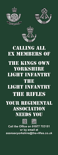 Rifles Light Infantry KOYLI Assocation Recruiting Banner