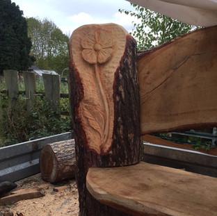 Carved KOYLI Bench