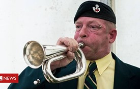 Bugler vows to 'play until there are no more deaths'