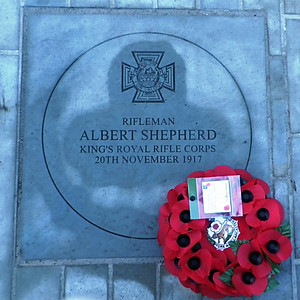 VC Centenary Stone  Rfn Albert Edward Shepherd VC KRRC