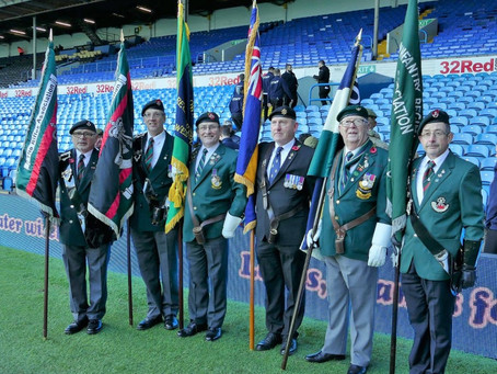 Branch Standards on Parade at Leeds United